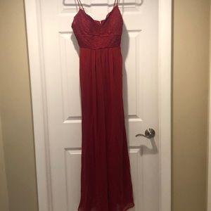 Red Long Bridesmaids Dress